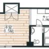在Suginami-ku内租赁1K 简易式公寓 的 楼层布局