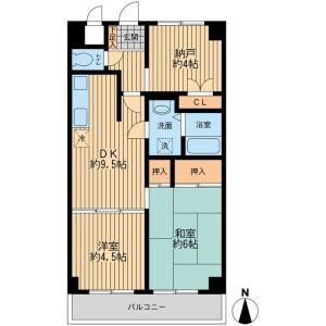 2SDK Mansion in Nishikojiya - Ota-ku Floorplan
