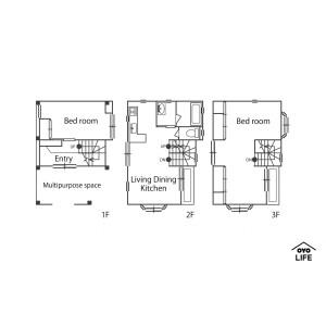 2LDK House in Roppongi - Minato-ku Floorplan