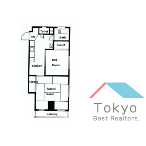 2K Mansion in Kamiyamacho - Shibuya-ku Floorplan