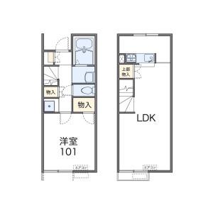1LDK Apartment in Okamoto - Setagaya-ku Floorplan