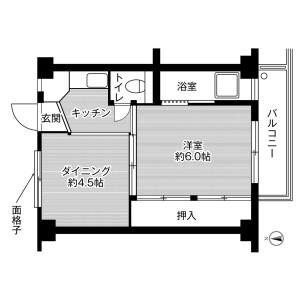 2K Mansion in Haruki asahimachi - Kishiwada-shi Floorplan