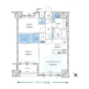 2LDK {building type} in Chojamachi - Yokohama-shi Naka-ku Floorplan
