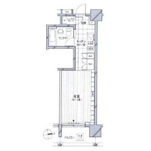 1R Mansion in Azabujuban - Minato-ku Floorplan