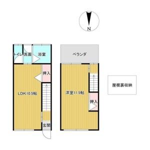 東大阪市鳥居町-1LDK{building type} 楼层布局