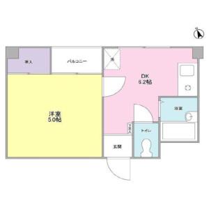 1DK Mansion in Miyazaki - Kawasaki-shi Miyamae-ku Floorplan