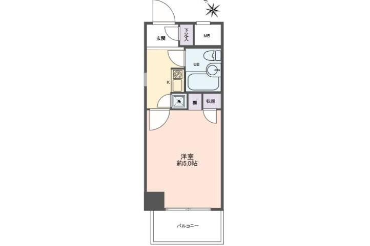 1K Apartment to Buy in Osaka-shi Higashiyodogawa-ku Interior