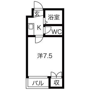 1K Mansion in Takayanagi - Neyagawa-shi Floorplan