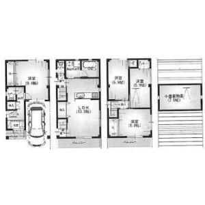 4LDK {building type} in Kitamura - Osaka-shi Taisho-ku Floorplan