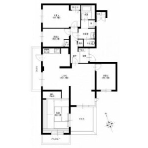 4LDK {building type} in Araicho - Yokohama-shi Hodogaya-ku Floorplan