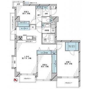 3LDK {building type} in Ebisunishi - Shibuya-ku Floorplan