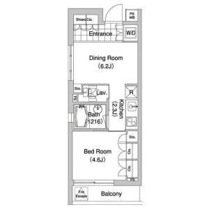 1DK Mansion in Bentencho - Shinjuku-ku Floorplan