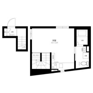 港区南青山-1R公寓大厦 楼层布局