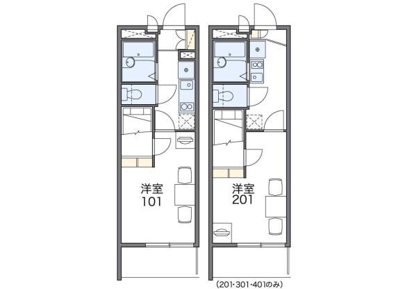 1K Apartment to Rent in Fukuoka-shi Hakata-ku Floorplan