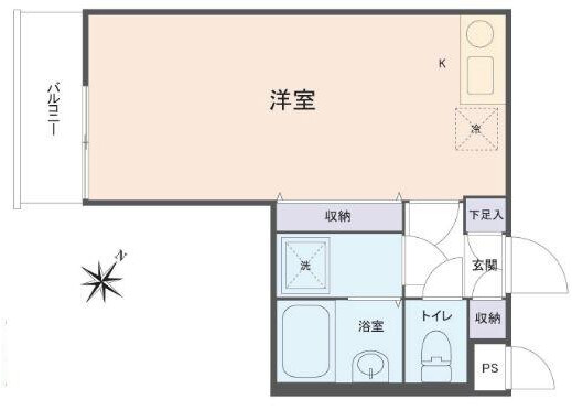 1R Apartment to Rent in Yokosuka-shi Floorplan