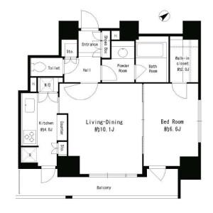 1LDK Mansion in Shibaura(2-4-chome) - Minato-ku Floorplan