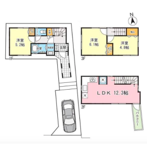 3LDK {building type} in Hommachi - Shibuya-ku Floorplan