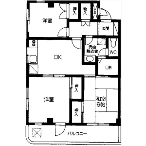 3DK Mansion in Owadamachi - Hachioji-shi Floorplan