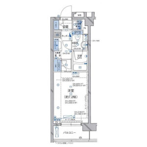 1K Apartment in Oyamacho - Shibuya-ku Floorplan