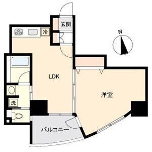 1LDK Mansion in Kamimaezu - Nagoya-shi Naka-ku Floorplan