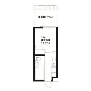 品川区上大崎-1K公寓大厦 楼层布局