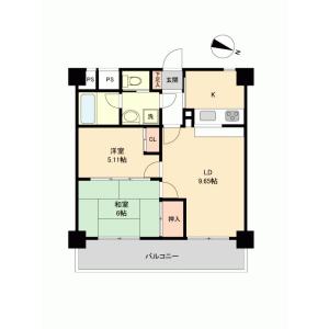 2LDK {building type} in Higashiome - Ome-shi Floorplan