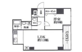 1LDK Apartment in Minamihorie - Osaka-shi Nishi-ku