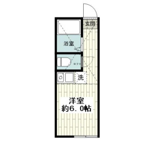 1R Apartment in Maruyama - Yokohama-shi Isogo-ku Floorplan