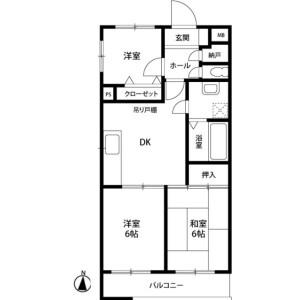 横浜市戸塚区前田町-3DK公寓大厦 楼层布局