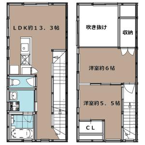 2LDK Apartment in Kamiyoga - Setagaya-ku Floorplan