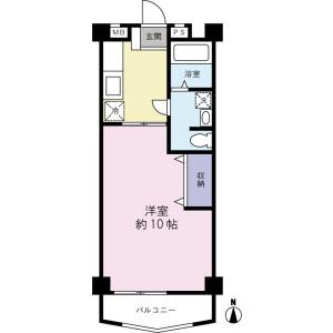 1K Mansion in Shakujiimachi - Nerima-ku Floorplan