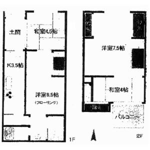 4DK {building type} in Kitamonzencho - Kyoto-shi Sakyo-ku Floorplan