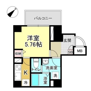 1K Mansion in Sugamo - Toshima-ku Floorplan