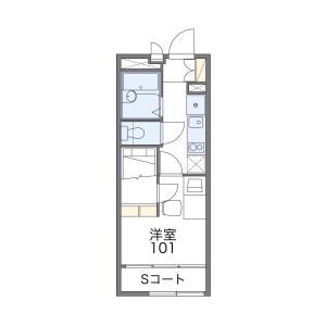 1K Apartment in Yokozutsumi - Osaka-shi Tsurumi-ku Floorplan