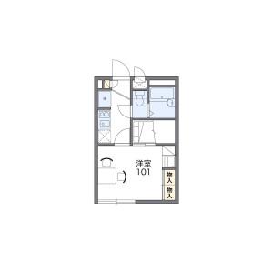 1K Apartment in Miyamae - Suginami-ku Floorplan