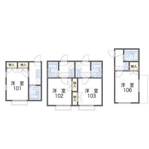 1K Apartment in Yakumo - Meguro-ku Floorplan