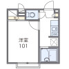 在越谷市內租賃1K 公寓 的房產 房間格局