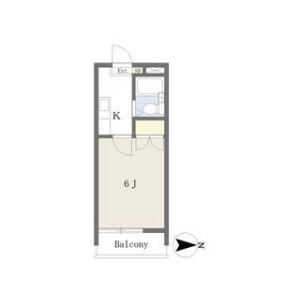 宇都宮市山本-1K公寓 楼层布局