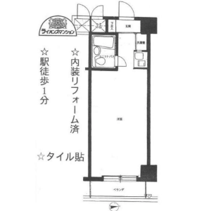 1K {building type} in Hyakunincho - Shinjuku-ku Floorplan