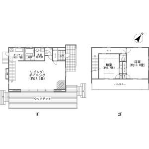北佐久郡軽井沢町発地-2LDK{building type} 房間格局