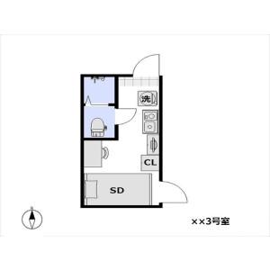 1R Apartment in Kuramae - Taito-ku Floorplan