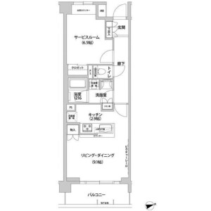1R Mansion in Aobadai - Meguro-ku Floorplan