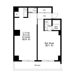 1LDK Mansion in Sasazuka - Shibuya-ku Floorplan