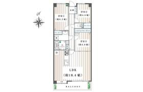 3LDK Apartment in Inukura - Kawasaki-shi Miyamae-ku