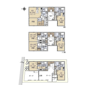 Whole Building {building type} in Toyotamakita - Nerima-ku Floorplan