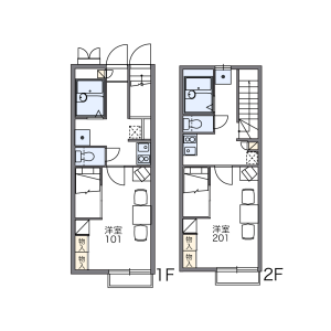1K Apartment in Sue - Kasuya-gun Sue-machi Floorplan