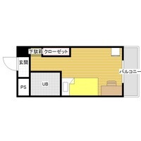 1R Mansion in Arato - Fukuoka-shi Chuo-ku Floorplan