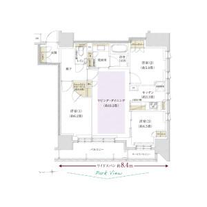 千代田区神田佐久間町-3LDK{building type} 楼层布局