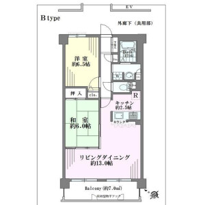 2LDK Mansion in Ebara - Shinagawa-ku Floorplan