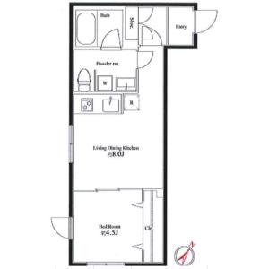 1LDK Mansion in Kita6-jonishi(26-28-chome) - Sapporo-shi Chuo-ku Floorplan